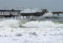 Forward Storm Spray Ocean Pier Sea Wave